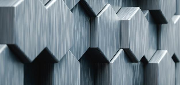 Illustrazione 3d. sfondo astratto esagonale. concetto futuristico e tecnologico.