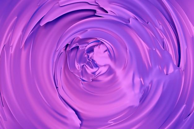 Illustrazione 3d di un pattern ipnotico. astratto sfondo viola con cerchi luccicanti e glitter. design di sfondo lussuoso