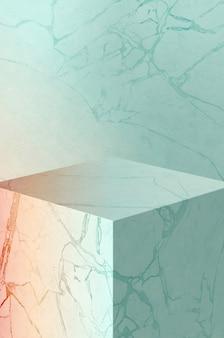 Illustrazione 3d. vista di isolamento, fondo lussuoso di struttura di marmo pastello.