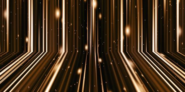 Illustrazione 3d movimento di luce e strisce effetto astratto bagliore splash onda colorata spirale arte nastro rosso brillante su fondo nero