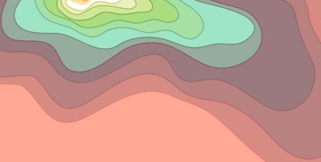 Illustrazione 3d sfondo di forma di taglio carta multicolore astratto 3d carta arte stile presentazione aziendale flyer poster stampe, decorazioni, carte, opuscoli.