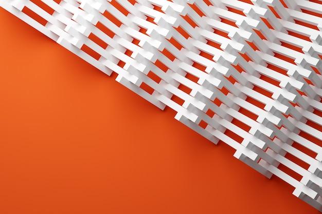 Modello di illustrazione 3d in stile ornamentale geometrico