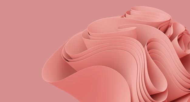 Illustrazione 3d sfondo rosa astratto sfondo