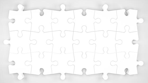 Illustrazione 3d. pezzi del puzzle isolati su sfondo bianco. rendering 3d