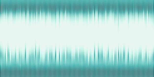 Illustrazione 3d onda sonora musica astratta impulso sfondo grafico delle onde sonore di frequenza e spettro separatamente su sfondo nero