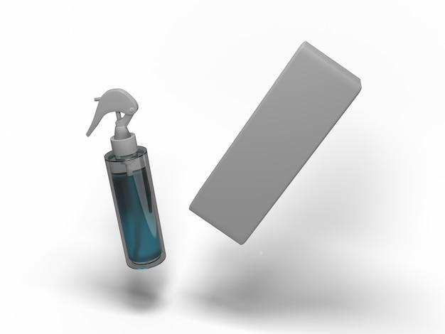Illustrazione 3d. atomizzatore per vari usi. mock-up per progetti di esempio.