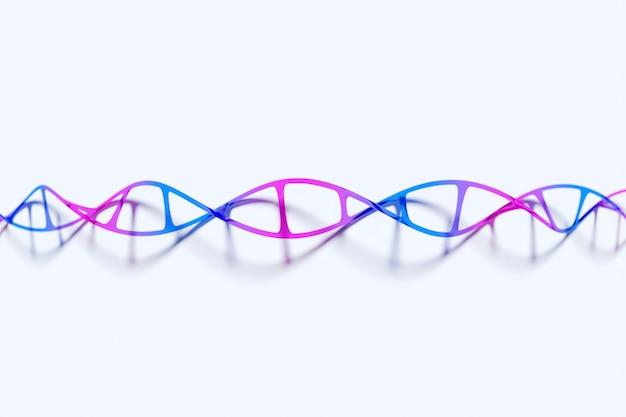 Illustrazione 3d di una striscia stereo di diversi colori. strisce geometriche simili alle onde.