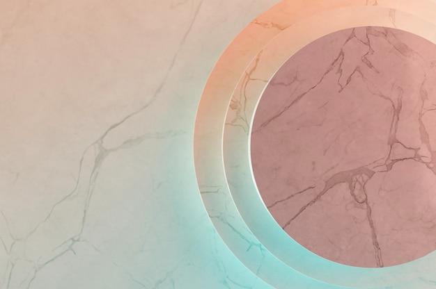 Illustrazione 3d. vista dall'alto . fondo lussuoso di struttura di marmo pastello.