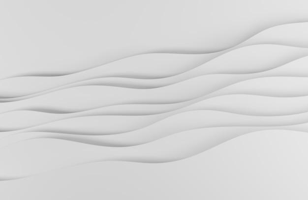 Illustrazione 3d design in stile arte astratta bianca per sfondi di siti web o pubblicità