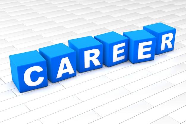 Illustrazione 3d della parola carriera