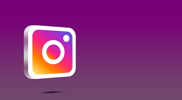 Icona di instagram 3d