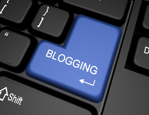 Tastiera 3d con pulsante blog