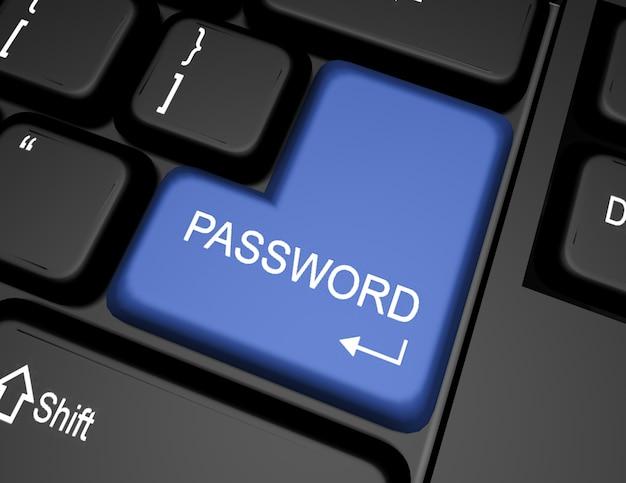Tastiera 3d con pulsante password