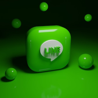 Applicazione logo linea 3d