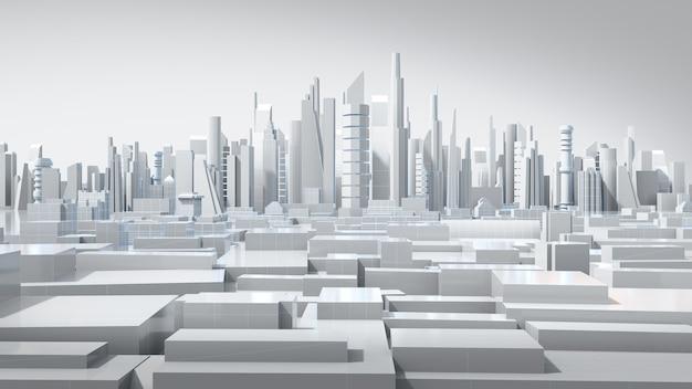 Gli edifici 3d a basso poligono