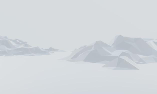 Montagna di ghiaccio a basso poligono 3d.