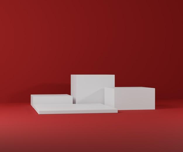Podio di mockup 3d per presentazione del prodotto, rendering 3d, illustrazione 3d
