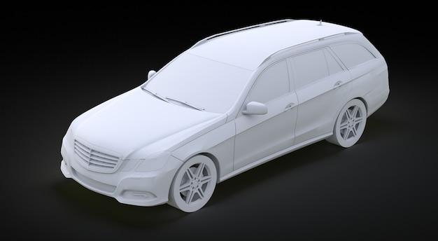 Modello 3d grande automobile di affari di famiglia rendering 3d