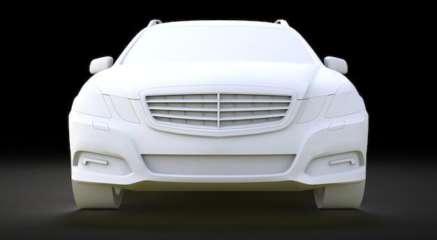 Modello 3d grande auto aziendale familiare con una guida sportiva e allo stesso tempo confortevole