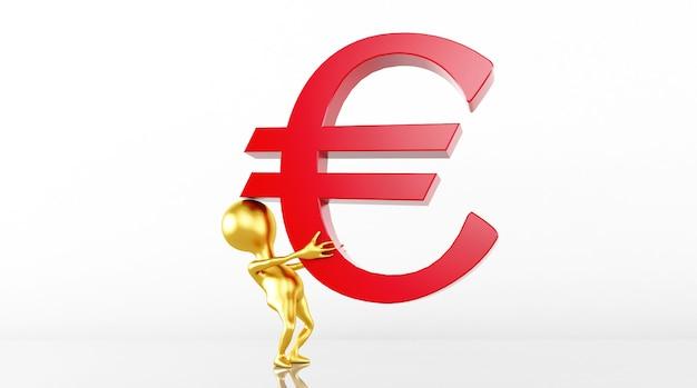 Il rendering del modello 3d controlla la banconota in euro