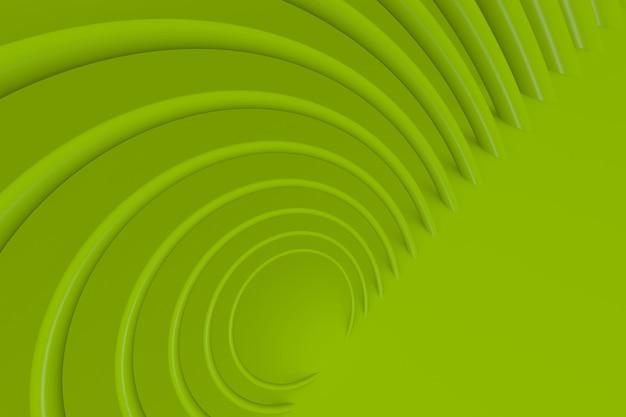 Sfondo moderno 3d con cerchio verde