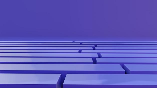 Labirinto viola moderno 3d per supporto del prodotto