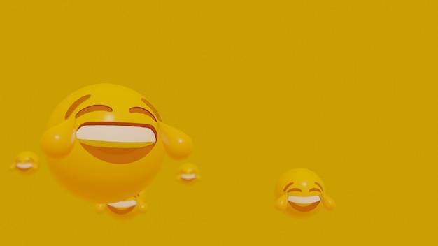 Faccia di emoji di movimento 3d
