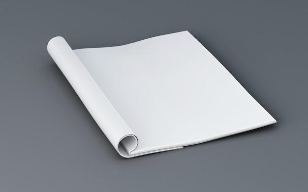 Rivista aperta 3d. modello