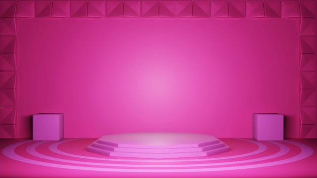 Sfondo rosa 3d, stile trama astratta, può essere utilizzato in copertina, design di libri, poster, volantini, sfondo del sito web o pubblicità.