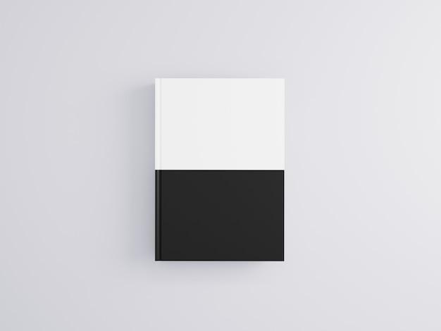 Modello realistico del libro 3d su fondo bianco