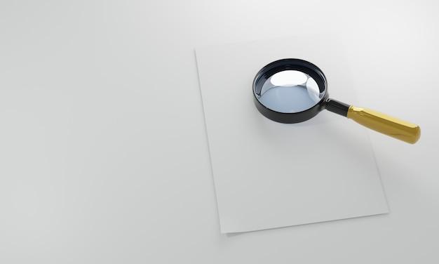 Lente d'ingrandimento realistica 3d