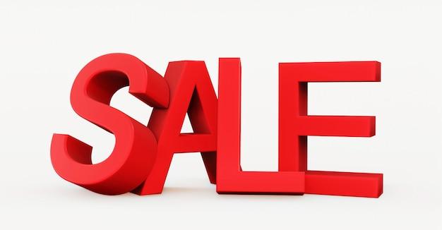 Parola rossa di vendita 3d