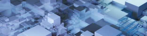 Rendering 3d, sfondo astratto da cubi.