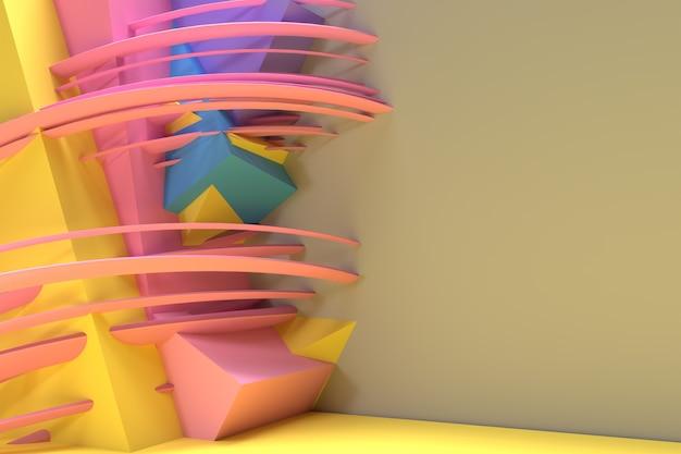 Rendering 3d sfondo astratto con lo spazio del tuo testo. progettazione digitale dell'illustrazione 3d.