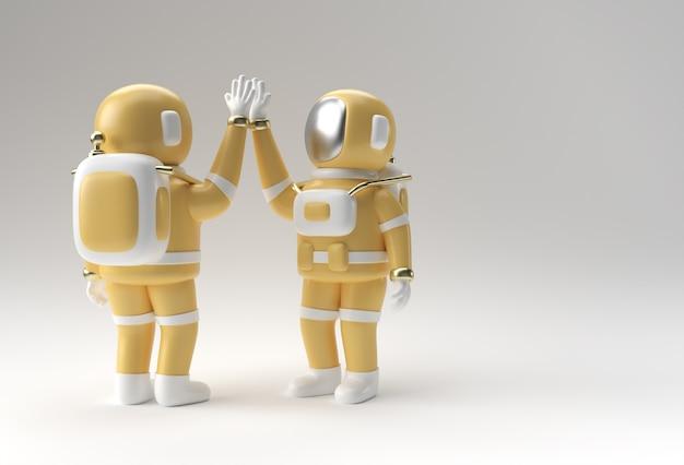 3d render astronauta hifi gesto illustrazione 3d design.