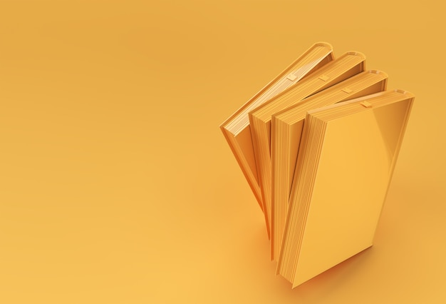 3d render libri pila di copertine di libri colorati segnalibri da manuale design.
