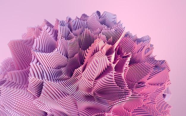 Rendering 3d di forma colorata deatailed. sfondo futuristico dinamico.