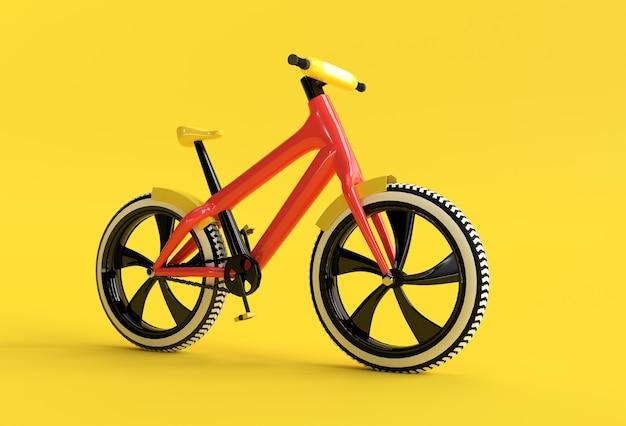 3d render concept of modern cycling 3d art design illustrazione.