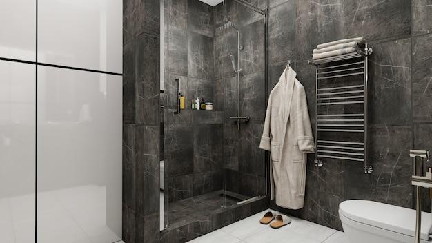 3d render design bagno interno