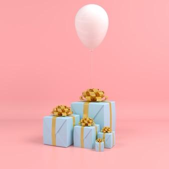 3d render display color pastello buon natale e felice anno nuovo modello