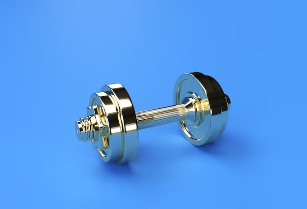 3d render set di manubri, realistico dettaglio vista ravvicinata isolato sport elemento di fitness dumbbell design.