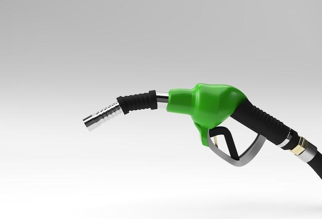 3d render ugello della pompa del carburante isolato su sfondo colorato.