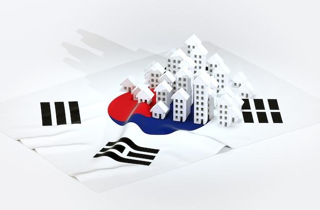 3d rendono l'illustrazione dello sviluppo immobiliare brasiliano