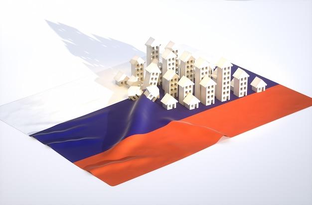 3d rendono l'illustrazione dello sviluppo immobiliare russo