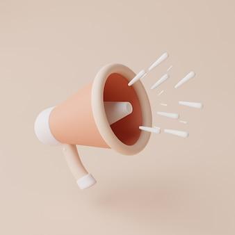 Illustrazione di rendering 3d della vendita flash dell'altoparlante