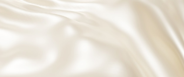 Rendering 3d di panno leggero e bianco. lamina olografica iridescente. sfondo di moda arte astratta.