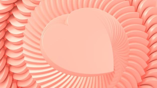 3d rendono i cuori rosa il giorno di san valentino