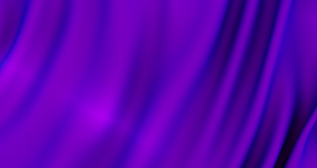 Rendering 3d di sfondo tessuto di seta viola., sfondo trama, raso viola intenso