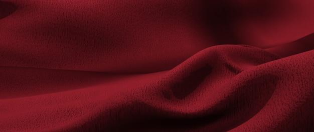 Rendering 3d di panno rosso. lamina olografica iridescente. sfondo di moda arte astratta.