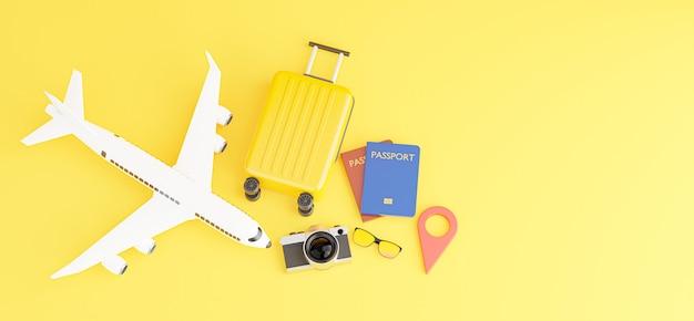 Rendering 3d di smartphone con concetto di turismo per il tuo design di mockup